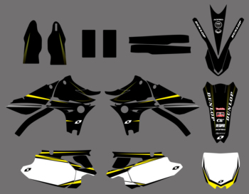Motorcycle New Style Graphics Background Decal Sticker Kit For Yamaha YZ450F YZF450 YZ 450F YZF 450 2010 2011 2012 2013