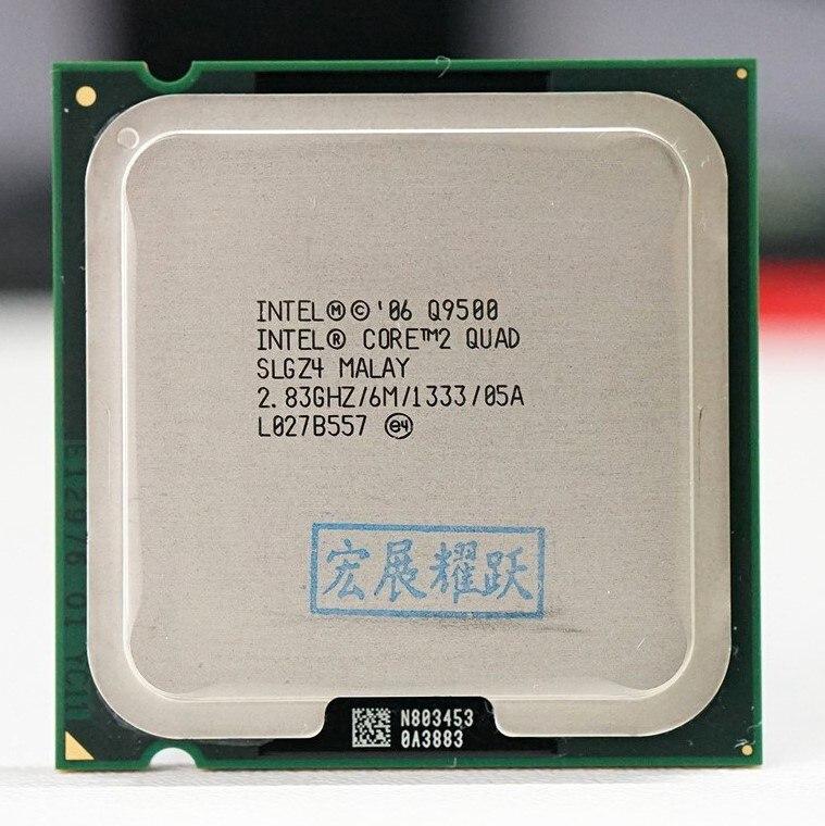 ПК компьютер Intel Core2 Quad процессор Q9500 (6 Мб кэш, 2,83 ГГц, 1333 МГц FSB) LGA775 настольный процессор