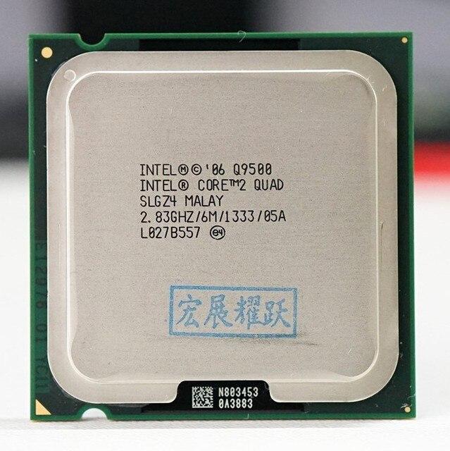 PC 컴퓨터 Intel Core2 쿼드 프로세서 Q9500 (6M 캐시, 2.83 GHz, 1333 MHz FSB) LGA775 데스크탑 CPU
