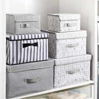 Caja de almacenamiento plegable de tela para ropa interior calcetines Organizador chico juguetes cajas de almacenamiento contenedores herramientas de maquillaje Organizador de rangos