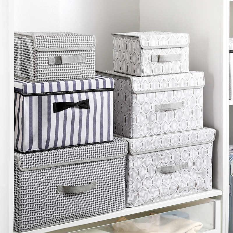 Neue große Cube Vlies Falten Lagerung Box Für Spielzeug Organisatoren Stoff Lagerplätze Mit Deckel Hause Schlafzimmer Schrank büro Kindergarten