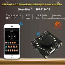 Hifdiy デジタルオーディオパワーアンプ,Bluetooth 5.0,tp3116d2,50wx2ステレオ,ホームシアターアンプ,USB,ap50h