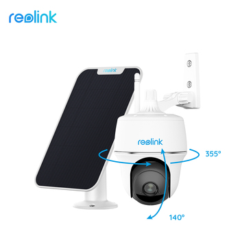 Reolink 1080p outdoor battery camera wifi Pan&Tilt remote access solar powered Argus PT and Solar panel