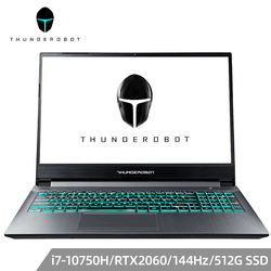 ThundeRobot 911 MT Gaming Laptop Intel Core i7 10750H RTX 2060 Notebook 8G RAM 512G SSD Win10 15.6'' IPS FHD RGB