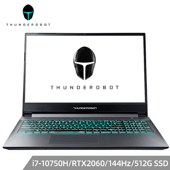 ThundeRobot 911 MT Gaming Laptop Intel Core i7 10750H RTX 2060 Notebook 8G RAM 512G SSD Win10 15.6'' IPS FHD RGB