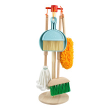 Cleaning-Toys-Tool-Set Broom Kids Children Housekeeping Pretend Play for Mop-Brush Wooden