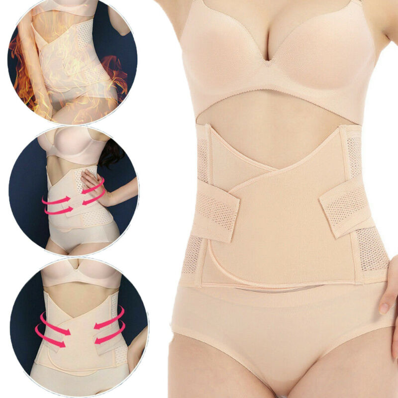 Women Postpartum Belly Recovery Band After Girdle Tummy Tuck Belt Body Shaper UK