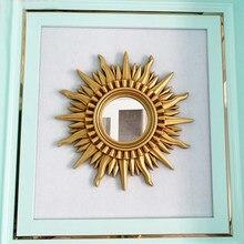 Home Decorative Mirror For Living Room Bedroom Bathroom Salon Casa 71cm28inch Creative Round Hanging Wall Art Sun Vintage Mirror