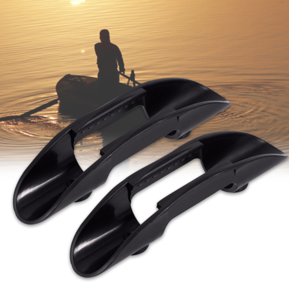 2pcs/set Kayak Plastic Boat Accessories ABS Oars Watercraft Canoe Fishing Paddle Clip Holder Mount Practical Marine Removable