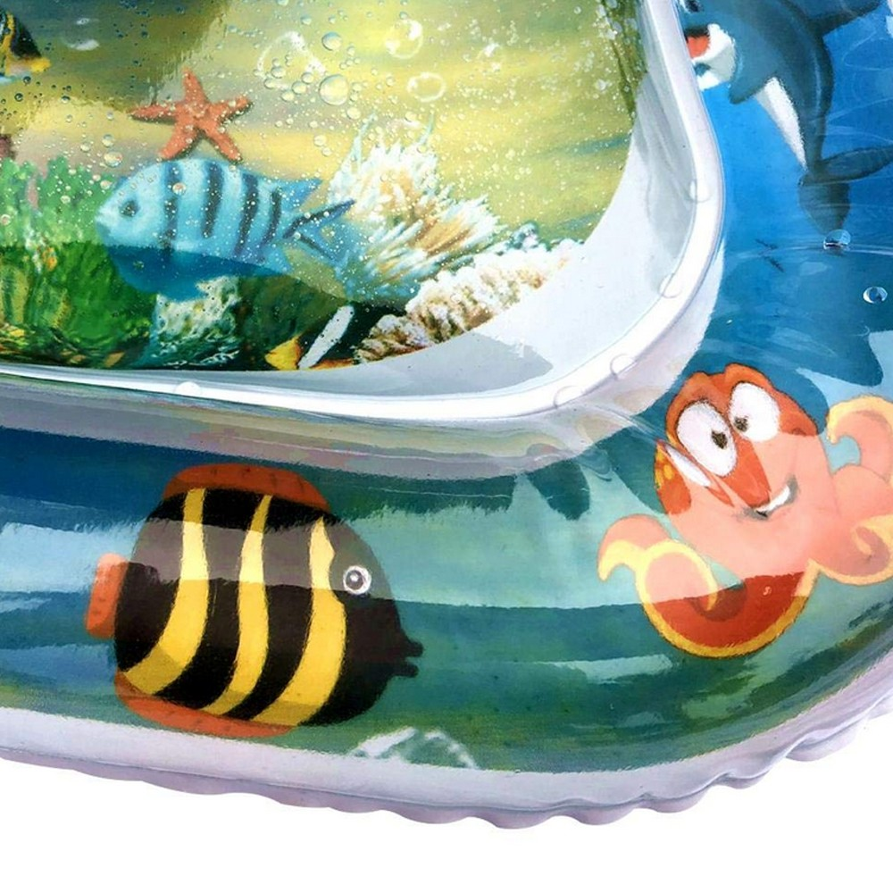 Ha30f29db0ebb419db864f7b9f98f6a56S Baby Kids Water Play Mat Toys Inflatable PVC infant Tummy Time Playmat Toddler Activity Play Center Water Mat Dropshipping