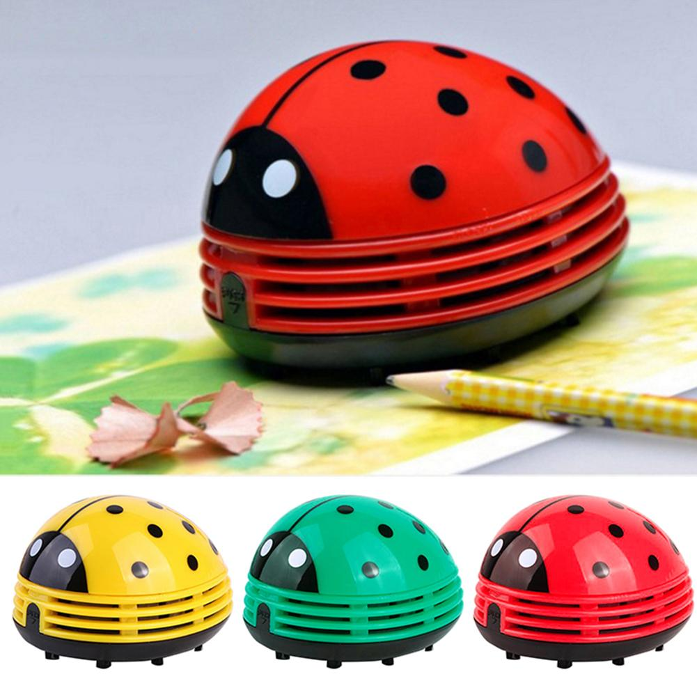 Mini Ladybug Desktop Vacuum Cleaner Dust Collector Home Office Cleaning Tool