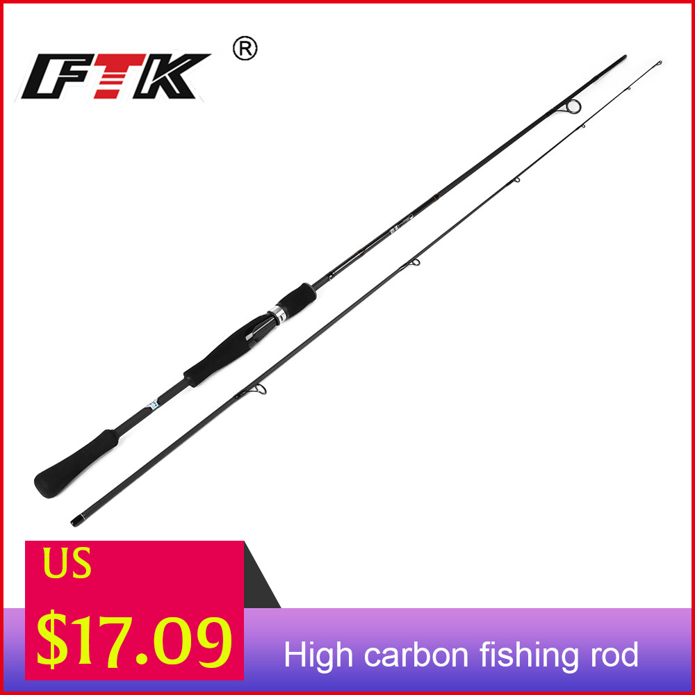 FTK Spinning Fishing Rod 100% Carbon C.W.1-7G, 2-8G, 3-15G, 5-20G,10-30G Surper Hard Fishing Pole 2 Sections Lure Fishing Rod
