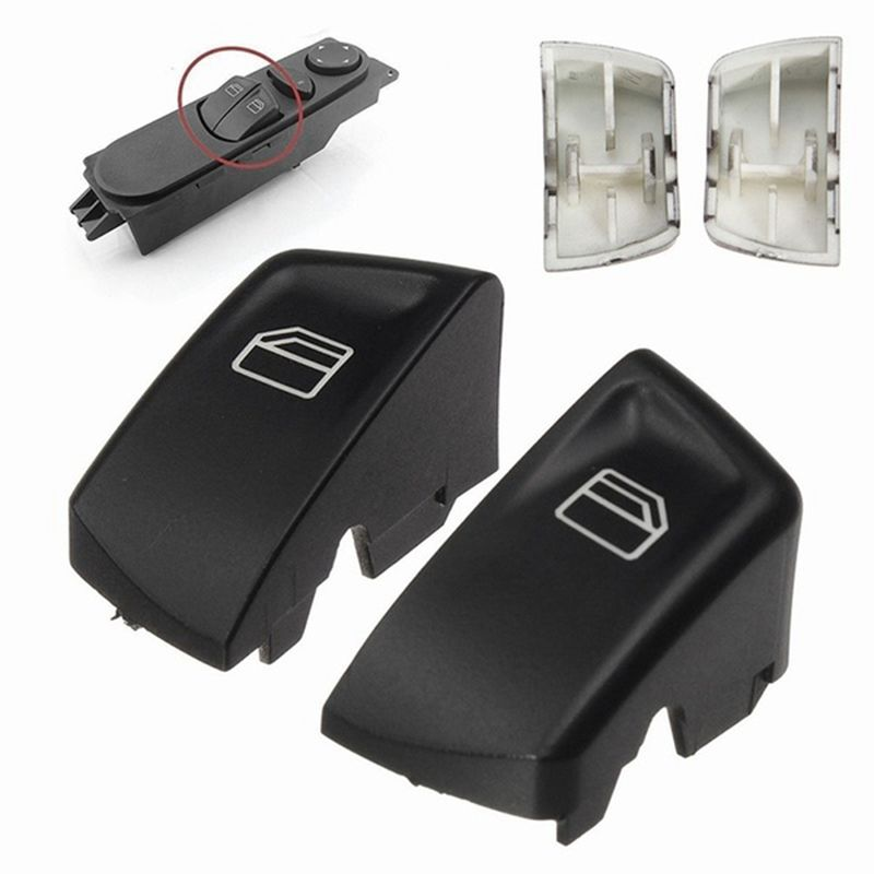 NEW-1 Pair Car Electric Window Control Power Switch Push Button Covers For Mercedes Sprinter Vito Viano Left+Right