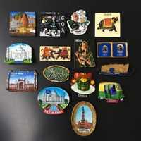 3d Fridge Magnets India Cultural Landscape Tourism Souvenir Hand Painted Resin Crafts Magnet Refrigerator Stickers Home Decor