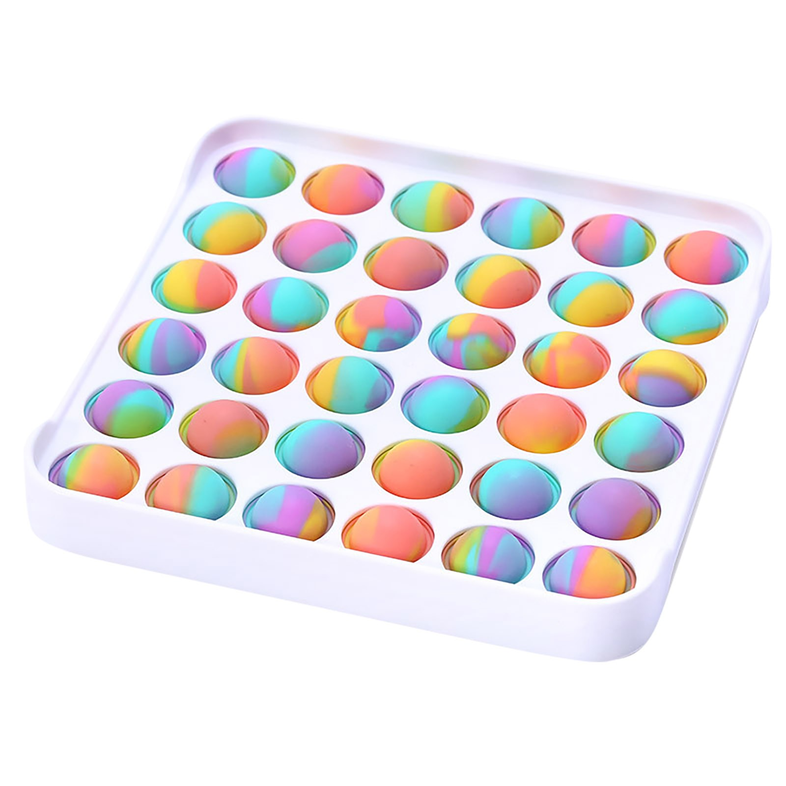Fidget-Sensory-Toy Game-Stress Bubble Pops Squishy-Pops Special Needs Rainbow-Push Relief img3