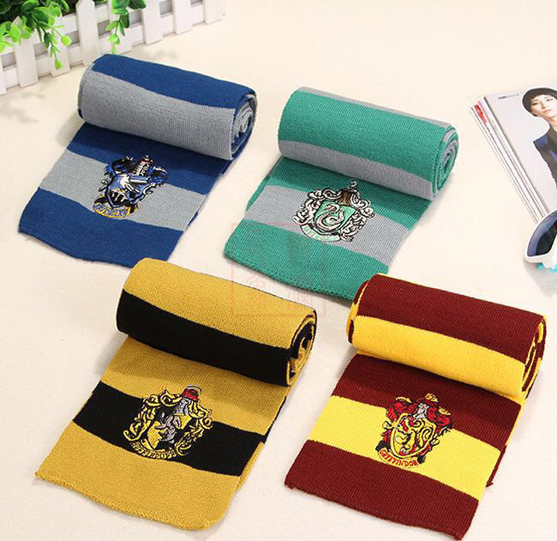 Best selling Harry scarves Gryffindor college scarf neck Cosplay Halloween scarves movie scarves Boys Costume Accessories  - AliExpress