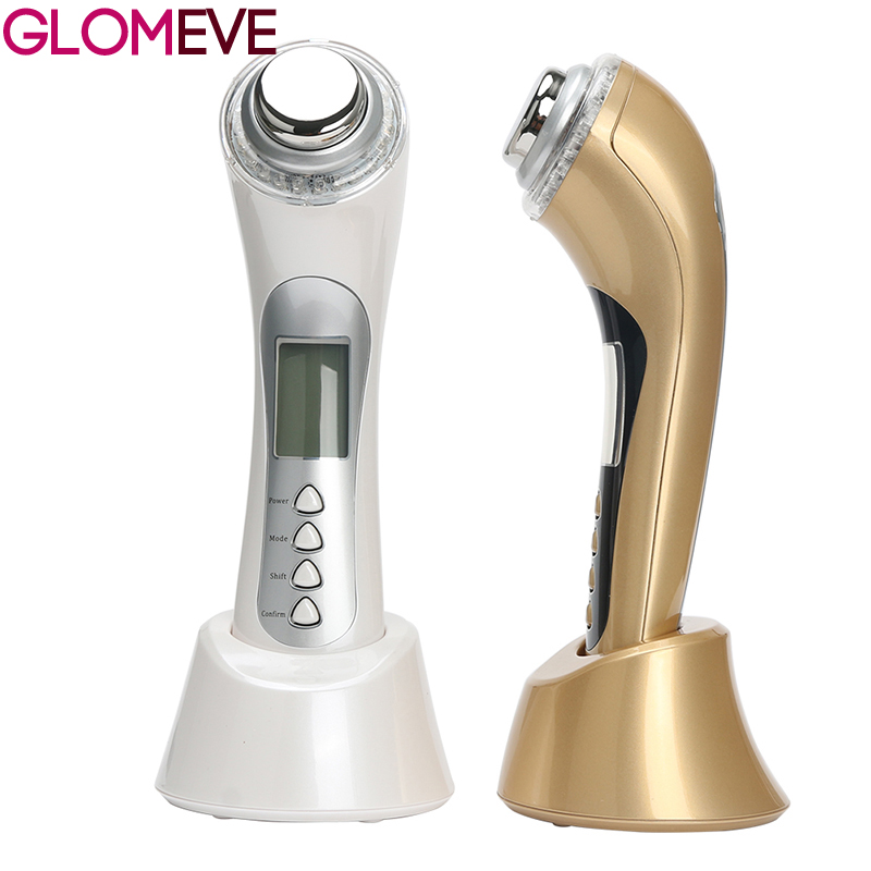 5 In 1 Skin Renewal System Skin Beauty Care Tool Ultrasonic High Frequency Ion Led Photon Personal Handheld Facial Massager