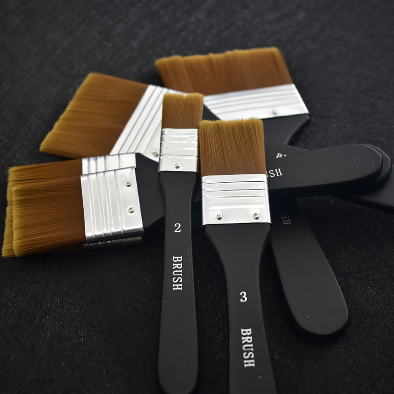Nylon Wooden Handle Oil Brush Multifunction Watercolor Paint Brush For Learning Diy Oil Acrylic Painting Brush Pen Art Supplies