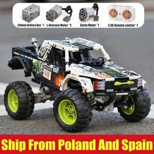 Image 1 - Juguetes técnicos para coches 4X4 fuera de la carretera bloques de construcción modelo Vehile 29256 coche clásico Compatible con Legoing 42099 regalos de navidad