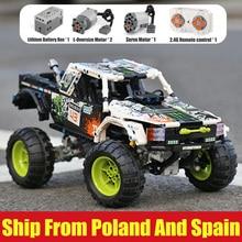Técnica carro brinquedos 4x4 fora da estrada vehile modelo blocos de construção 29256 carro clássico compatível com legoing 42099 presentes de natal