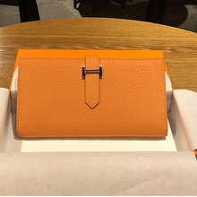 Luxury Style Genuine Leather Women Wallet Long Quality Leather Multi Function Phone Purse Credit Cards Holder Bags