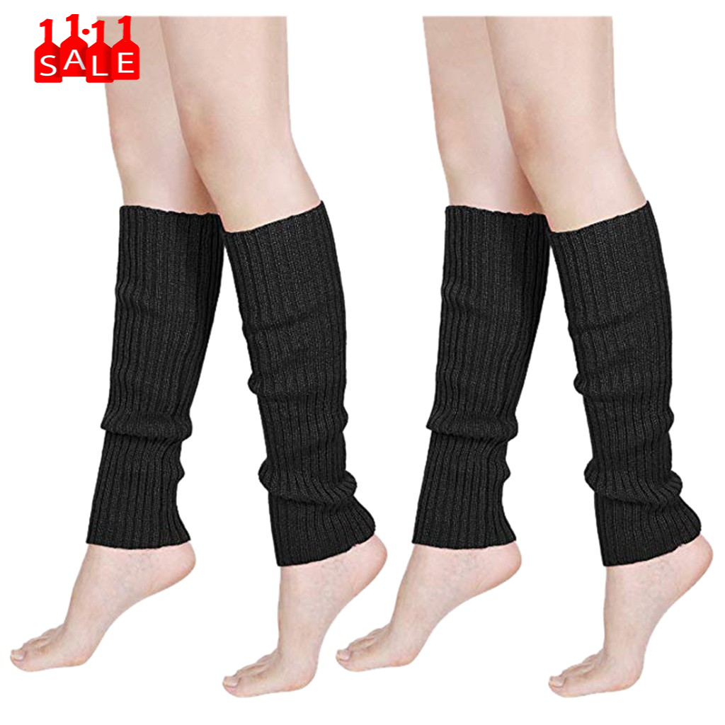 Women & Men Fluorescence Color Stripe Boot Cuffs Warmer Knit Leg Party Stockings High Boot Stockings Leggings calcetines #ZC
