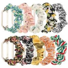 Bracelet de rechange en tissu élastique pour Xiaomi Mi Band 5, pour femmes et filles, Scrunchie, à la mode