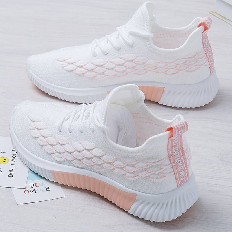 Women Vulcanized Ladies Mesh Breathable Shoes Female Fashion Lace Up Flats 2020 Women's Casual Round Toe Footwear Plus Size 41