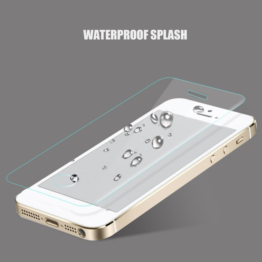 Ultra Slim Tempered Glass Film Portable Phone Screen Protecting Cover Shockproof Cover For iPhone 5s 6 6Plus 7 7Plus 8 8Plus X in Phone Screen Protectors from Cellphones Telecommunications