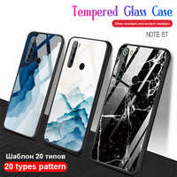 tempered glass phone case redmi note 8t marble back cover protective cases shell for xiaomi redmi note 8 t note8t not t8 coque