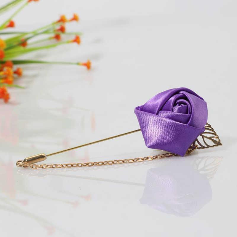 Güzel zincirler kadınlar için çiçek broşlar erkekler moda bayan giyim pimleri takı aksesuarları yılbaşı hediyeleri