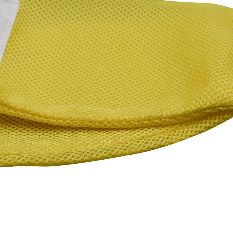 Gants pour Apiculture manches de protection à mailles jaunes respirantes en tissu blanc et peau de mouton pour Apiculture gants pour Apiculture