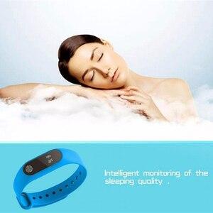 Image 3 - M2 braccialetto sportivo intelligente frequenza cardiaca rilevazione dellossigeno nel sangue monitoraggio del sonno sano pedometro braccialetto sportivo intelligente
