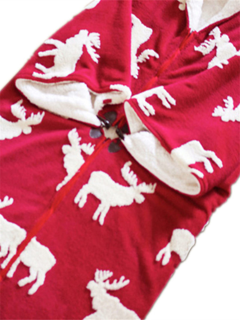 Mmultifunción de una pieza de pijama manta chal capa con manga gruesa caliente edredón ropa de casa señora invierno franela ropa de dormir f2058 - 6