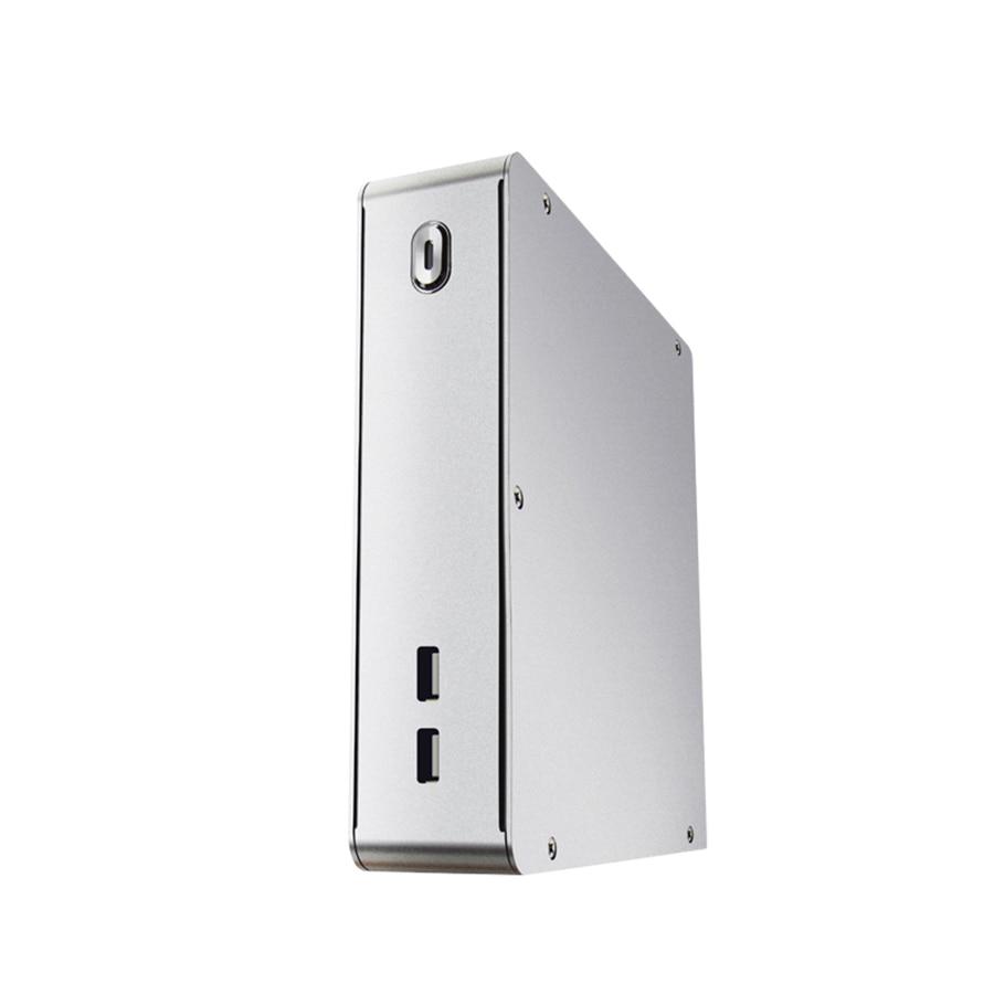 u3 com 2.5 Mini Alumínio Computador Case Disco Rígido 12 v 5a Adaptador e. Itx