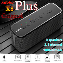 X8 Plus High Power 80W Subwoofer 3 Lautsprecher Soundbar 100400mAh Mobile Power Bluetooth Lautsprecher Portable Sound Spalte caixa de som