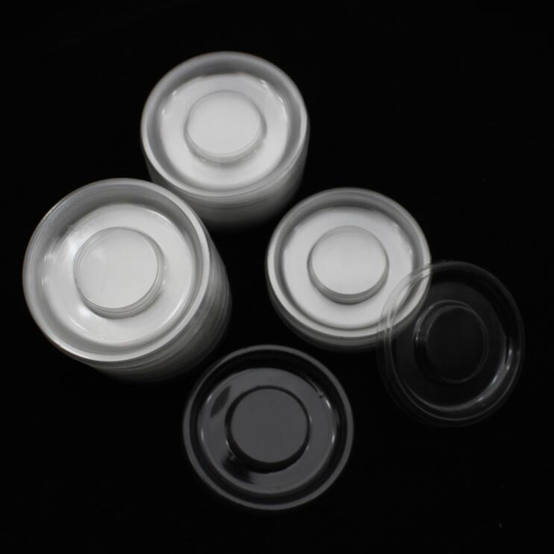 100pcs Wholesale Circle Round Clear Lash Trays Plastic Transparent Blank Holder Tray For Eyelash Packaging Box Case Container