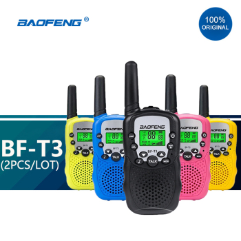 2pcs/lot Baofeng T3 Children Mini Walkie Talkie Kids Radio Toy Woki Toki BF-T3 For Kid Gift BF Portable Two-Way Transceiver