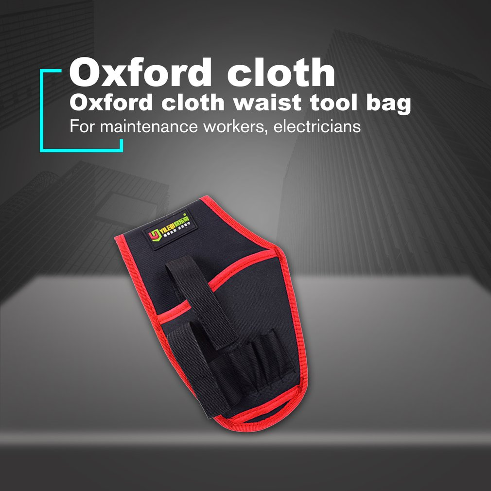 Electric Drill Holder Waist Tool Bag Waterproof Electrician Tool Bag Electric Drill Oganizer Carrying Pouch Holster