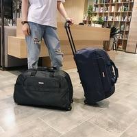 Pull rod bag travel bag men's and women's handbag travel bag boarding case large capacity handbag luggage bag pull rod bag