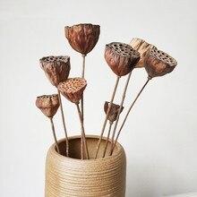 Flores prensadas de emulación de loto Artificial Natural, decoración para el hogar o la oficina, manualidades para decoración artesanal, 10 Uds.
