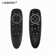 Kebidu g10 controle de voz do mouse ar 2.4ghz sem fio com gyro sensing jogo controle de voz controle remoto inteligente para android caixa tv