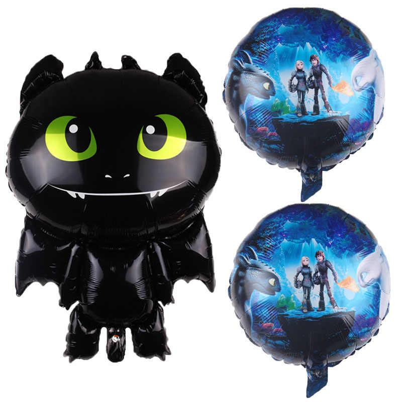Wie zu Zug Ihre Zahnlos Ballon Schwarz Cartoon Dragon Ball Zeremonie Geburtstag Party Baby Jungen Thema Hero Dekorative Spielzeug