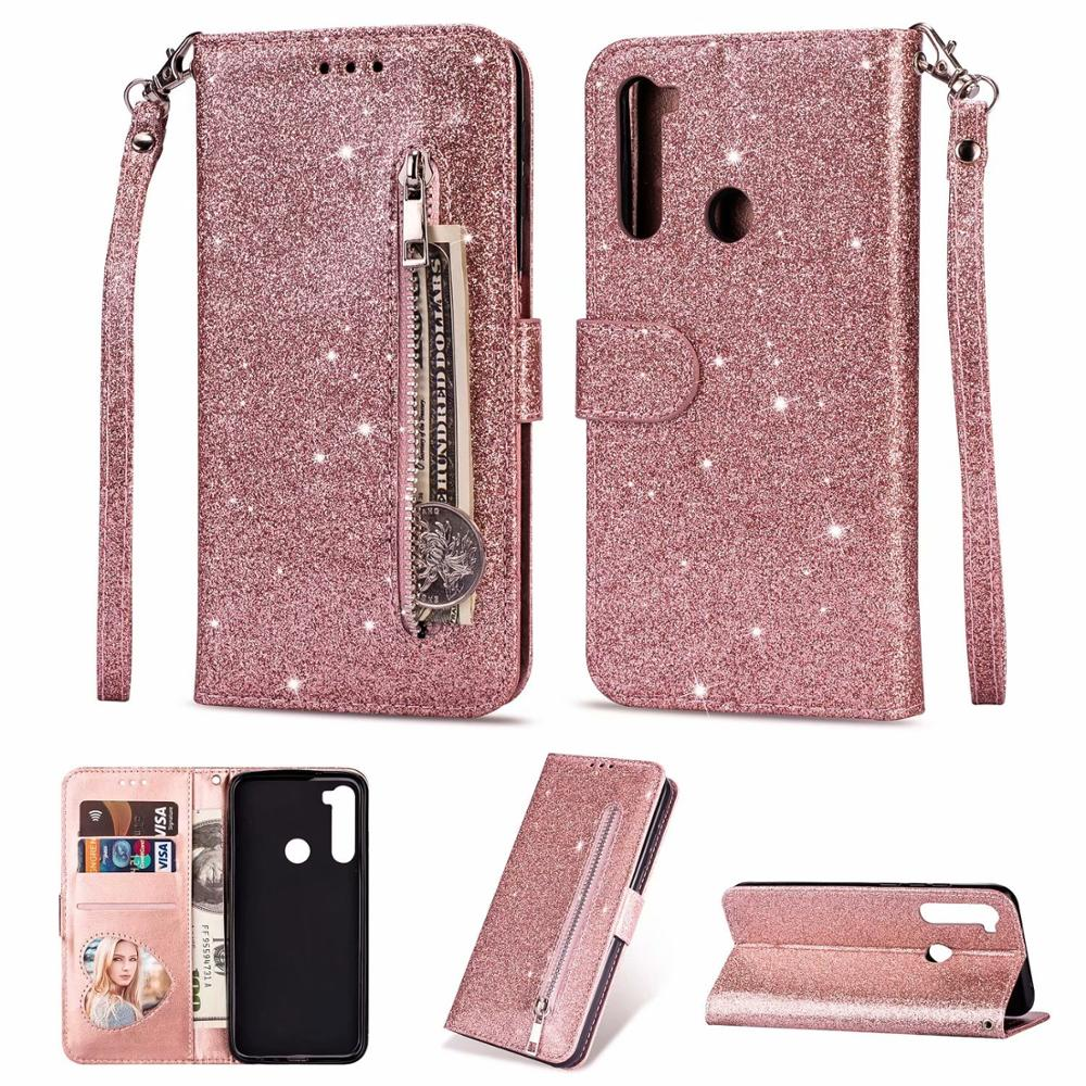 <font><b>Wallet</b></font> Leather <font><b>Case</b></font> for <font><b>Xiaomi</b></font> Redmi Note 8 7 Pro GO 7 7A Redmi for <font><b>Xiaomi</b></font> <font><b>Mi</b></font> <font><b>9</b></font> SE A3 <font><b>9</b></font> Lite CC9 E Glitter Card Slot <font><b>Flip</b></font> <font><b>Case</b></font> image
