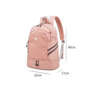 Image 4 - Women Pink Sport Gym Bag Waterproof Fitness Swimming Backpack Yoga Training Bag Shoe Compartment Travel Luggage Bag Sac De Sport