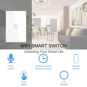 Image 2 - Smart Wifi Touch Switch No Neutral Wire Required Smart Home 1/2/3 Gang Light Switch 220V Support Alexa Tuya App 433RF Remote