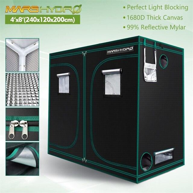 1680D Mars Hydro 240X120X200cm Indoor LED Grow Tent Indoor Growing  1