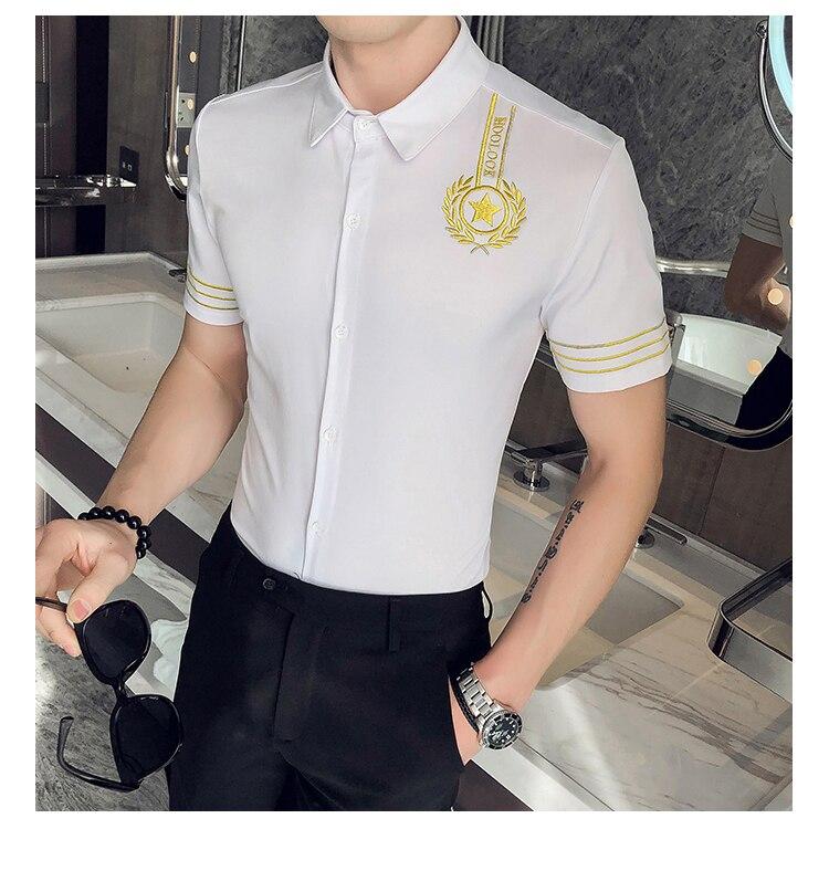 homens magro ajuste camisas de vestido casual