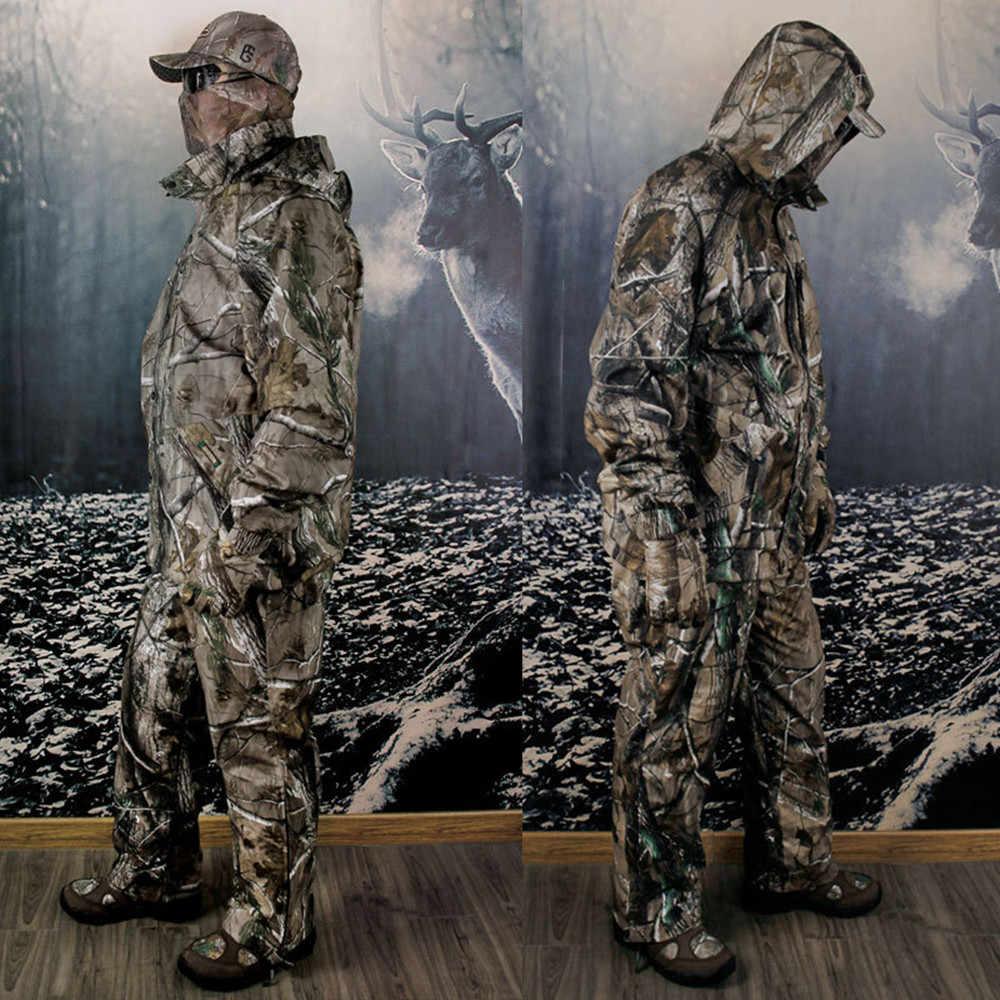 Nuovo Inverno Camuffamento Bionico Impermeabile Reed Camo Caccia Tuta Termica Panno Morbido di Pesca Abbigliamento per la Caccia Set Caccia Ghillie Suit