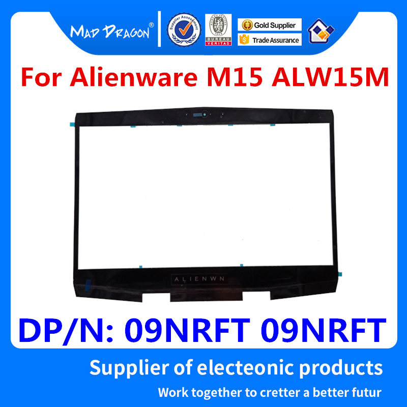 Ordinateur portable nouveau LCD avant lunette cadre couverture lcd lunette pour Dell Alienware M15 ALW15M nouveau M15 R1 Alien M15 R1 Qrion 15 09NRFT 09NRFT